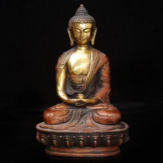 Old Tibet Brass Tibetan Buddhism Statue - - - - Shakya Muni photo