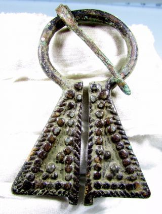 Viking Bronze Penannular Omega Brooch - Ancienthistoric Artifact - B533 photo