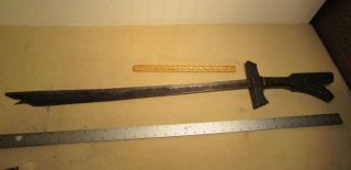 Antique Spanish War Bring Back Kampilan Sword,  Philippines Bagobo Mindanao. photo