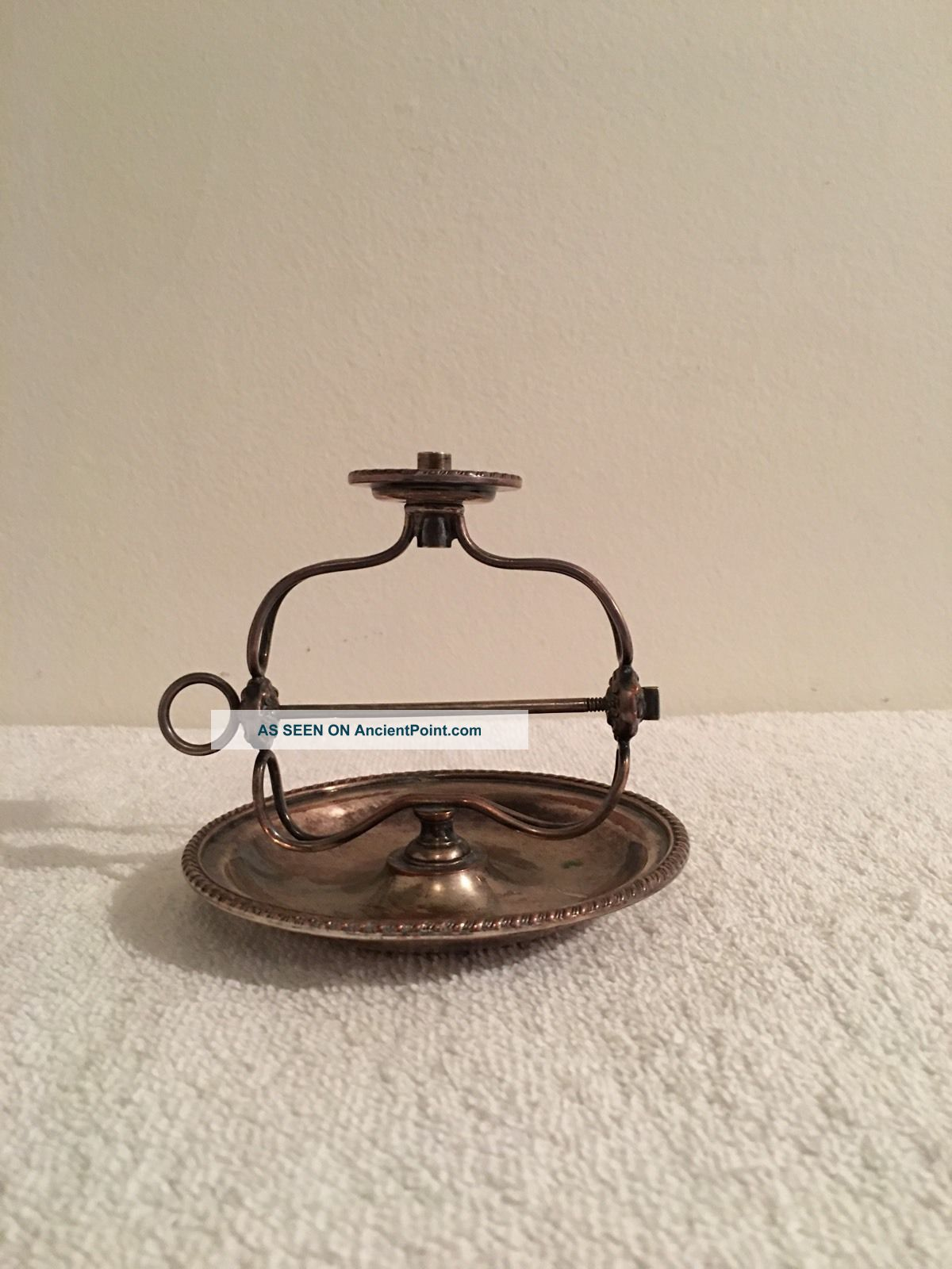 Antique Silverplate Candle Wax Jack Candlesticks & Candelabra photo