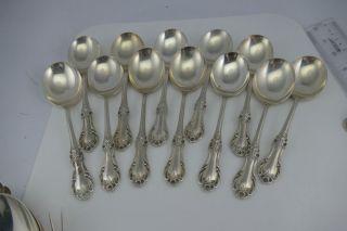 Fine Sterling Silver Wild Rose Soup Spoon (s) International No Mono Euc photo