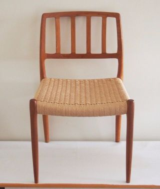 Vintage Danish Modern Moller Teak Chair Model 83 photo