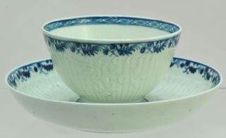 Antique 18th Century Blue & White Porcelain Liverpool Trio Cups & Saucer 1770 photo