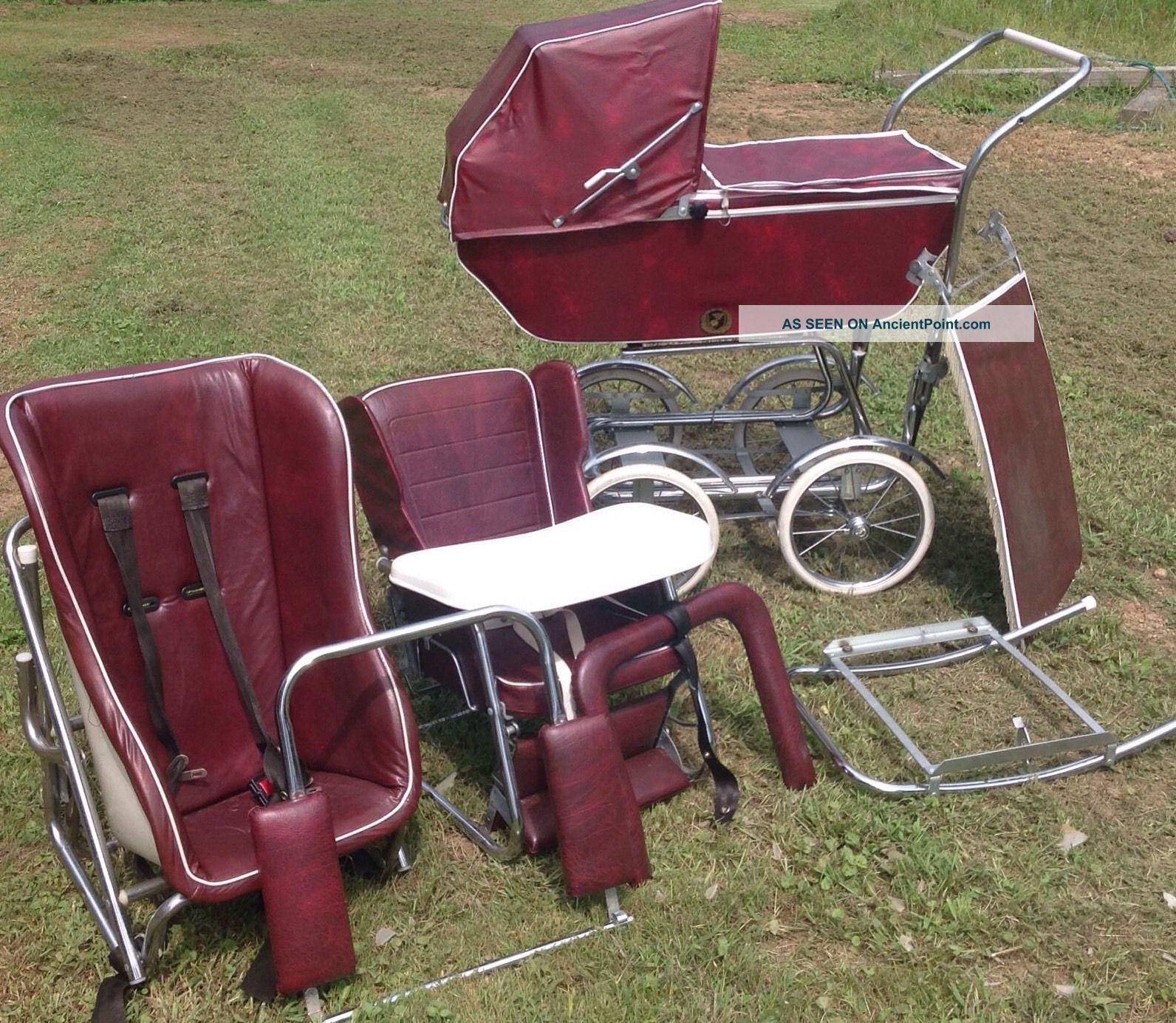 Vintage Babyhood Baby Carriage Buggy Stroller By Wonda - Chair Baby Carriages & Buggies photo