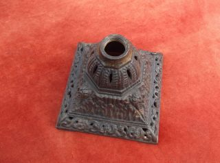 Antique Lamp Base / Cast Iron Base / Paraffin Oil Lamp / Lantern / Oil Burner photo