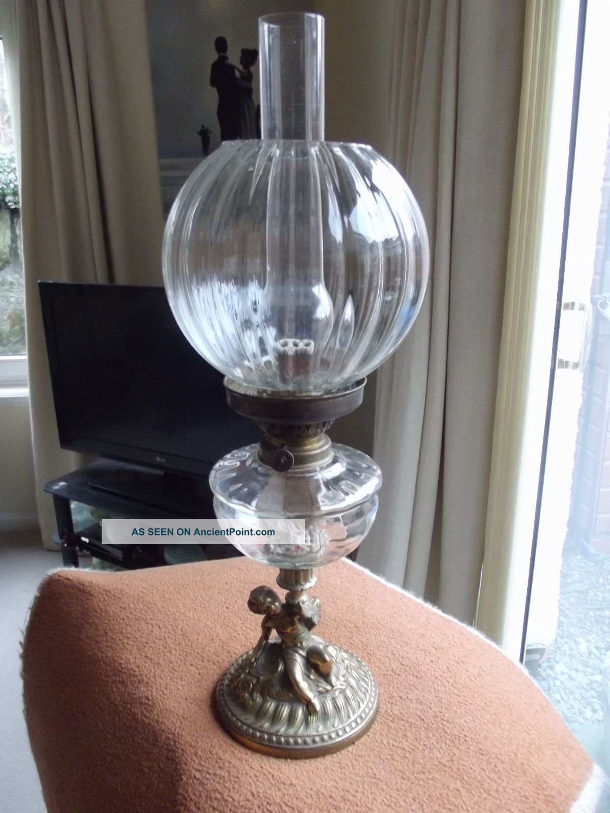 Vintage Oil Lamp 20th Century photo