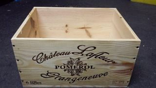 Chateau Lafleur Pomeral - French Wooden Wine Box Planter Hamper Storage= photo
