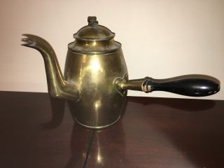 Antique Brass Handarbete Handarbeit Coffee Pot Made In Sweden photo
