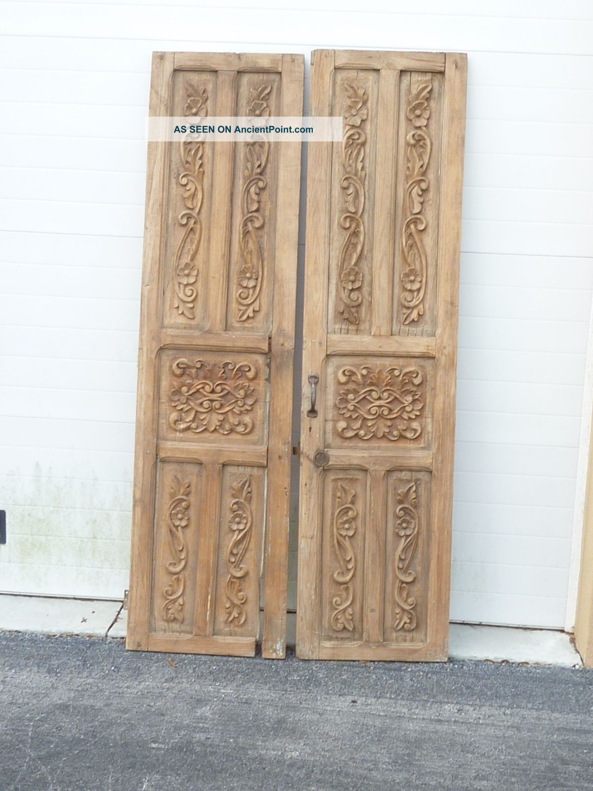 & Incredible Antique Mexican Mesquite Doors - Carved - Absolutely Gorgeous