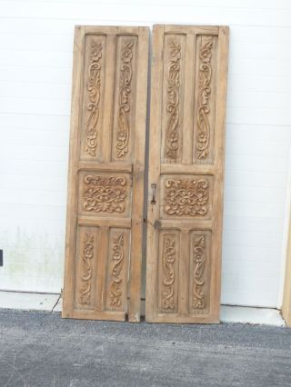 Incredible Antique Mexican Mesquite Doors - Carved - Absolutely Gorgeous photo