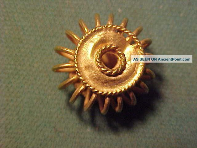Sassanian Solid Gold Spiral Bead Circa 224 - 642 Ad. Near Eastern photo