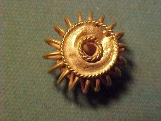 Sassanian Solid Gold Spiral Bead Circa 224 - 642 Ad. photo