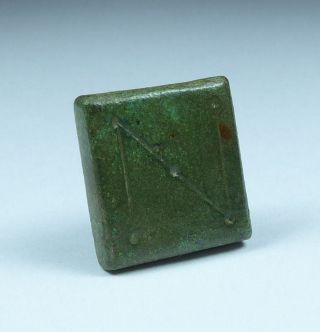 Ancient Byzantine Bronze Weight Letter N photo