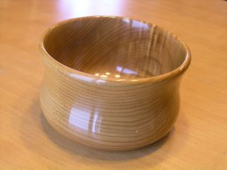 Vintage Hand Carved / Turned Oregon Myrtlewood Chalet Bowl Portland photo