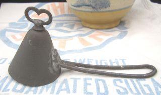 Antique Tin 8 Cone Shape Ice Cream Scoop With Heart Key photo