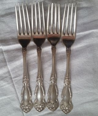 Wm Rogers & Son Aa Silverplate Orange Blossom 4 Dinner Forks Pattern photo