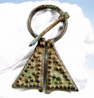 Viking Bronze Penannular Omega Brooch - Lovely Ancient Historic Artifact - B628 photo