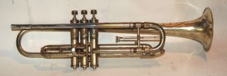 John Heald Trumpet 1890 ' S Made In Springfield Massachusetts Gold Plated photo