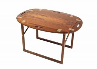 Svend Langkilde,  Illum Bolighus,  Vintage Butlers Tray In Rosewood,  Denmark photo