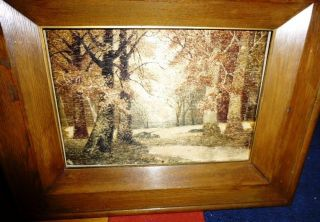 Meiji Period Japanese Silk Work & Embroidery Panel – Framed C 1880 - 1900 photo