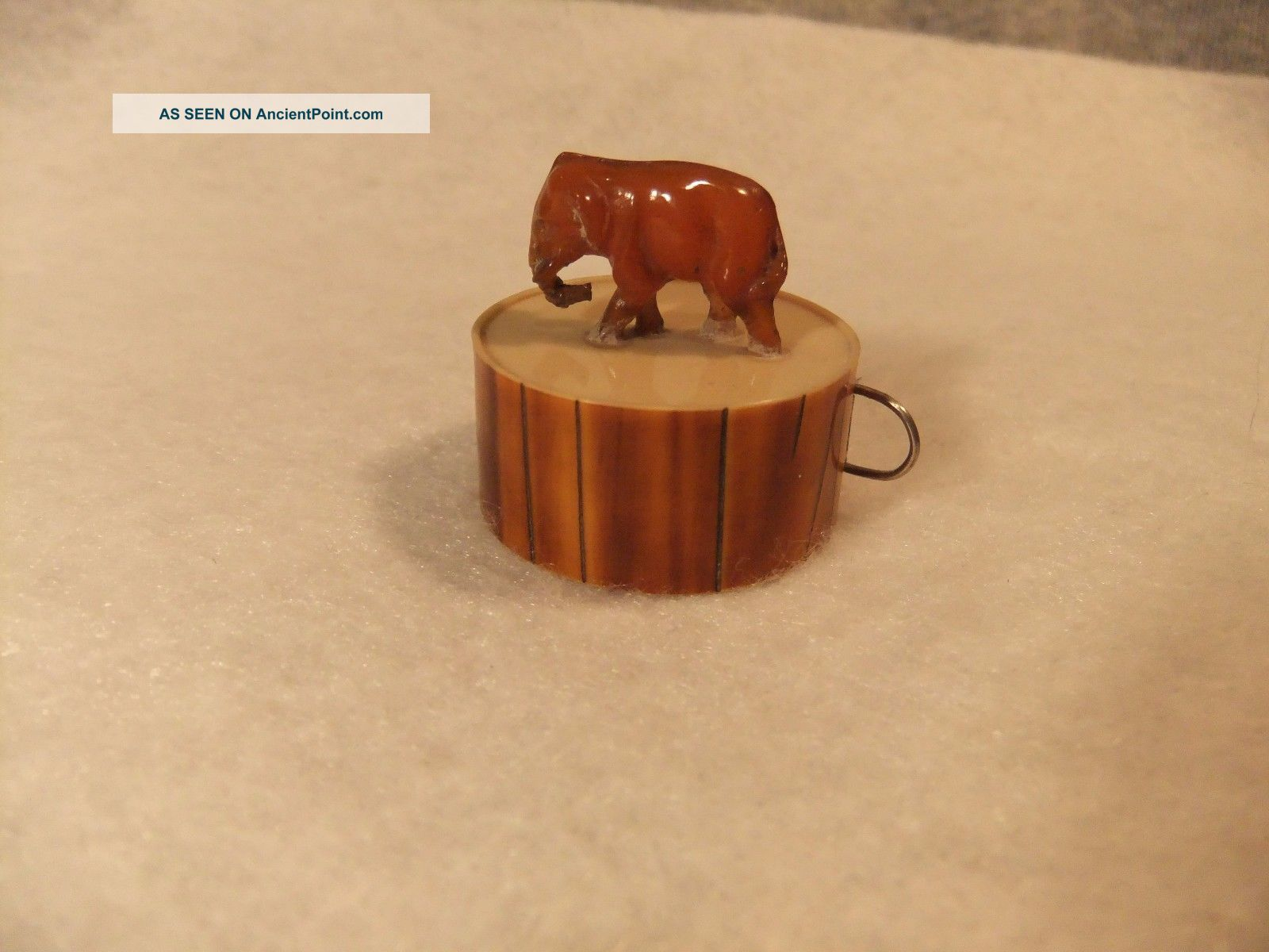 Vintage Celluloid Sewing Tape Measure Elephant Figure Made In Germany Tools, Scissors & Measures photo