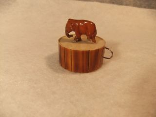 Vintage Celluloid Sewing Tape Measure Elephant Figure Made In Germany photo