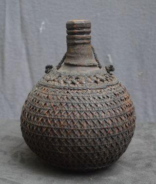 Antique And Quality Toba Batak Calabash Bottle Indonesia Sumatra photo