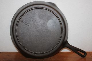 Vintage 1940 ' S - 1950 ' S Lodge No.  8 Cast Iron Skillet 3 Notch Heat Ring photo