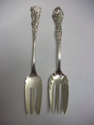 Sterling Silver Pastry/pie Forks photo