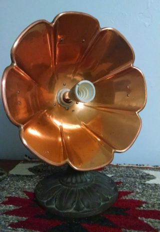 Universal Landers Frary & Clark Lotus Flower Copper Dish Heater, photo