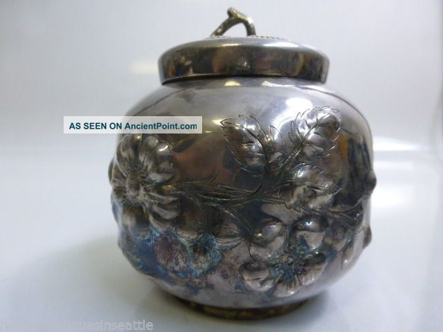 Pairpoint Mfgco.  Silver - Plated Tea Caddy / Humidor Other Antique Silverplate photo