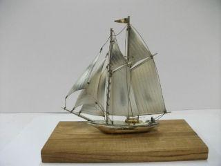The Sailboat Of Silver960 Of Japan.  76g/ 0.  68oz.  Takehiko ' S Work. photo