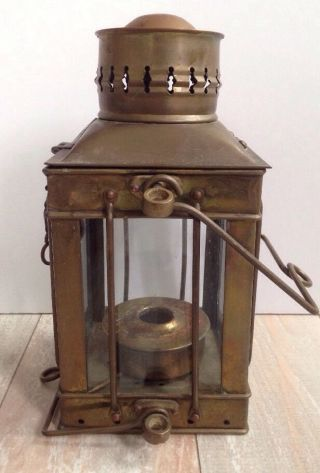Vintage/antique Neptune Nr Nautical Maritime Ship Boat Oil Lamp Brass Lantern photo