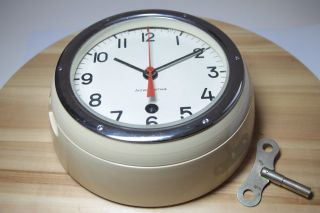 Vintage 1985 Russian Ussr Military Navy Marine Nautical Ship Boat Clock Vostok photo