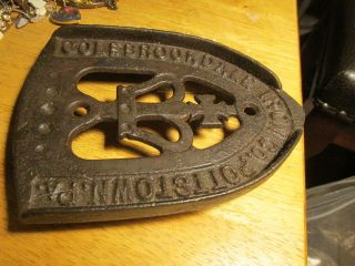 Cast Iron Iron Rest Colebrookdale Iron Co.  Pottstown Pa. photo