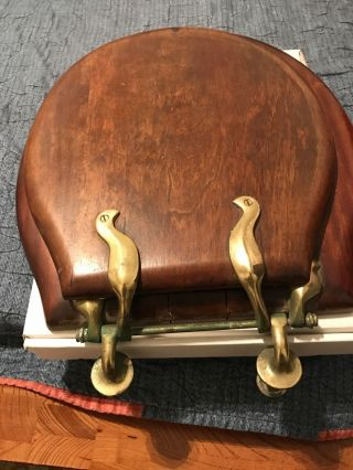 Antique Victorian Wood Toilet Seat W Fixture Begin Of Century 1907 photo