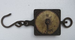 Salter ' S 200 Lbs Spring Balance Scale Cast Iron Brass Dial Silvester ' S Patent photo