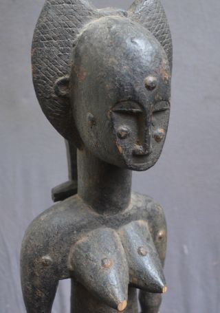 Statue Of A Woman With A Hair Dress,  Drc,  Africa photo