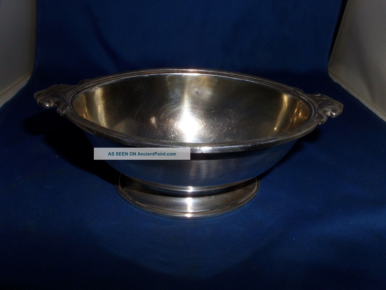 White Star Line Silver Plated Sauce Tureen C.  1911/12 Elkington & Co Reg Design Other Antique Silverplate photo