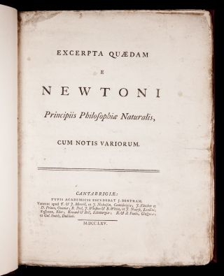 1765 Newton Excerpta Principia Mathematica Jebb Physics Math Mechanics Astronomy photo
