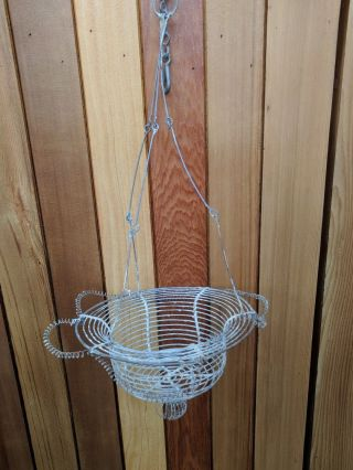 Victorian Wirework Hanging Planter photo