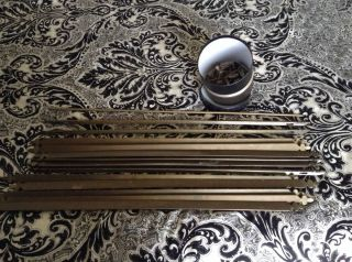 Victorian Solid Brass Stair Carpet Rods Plus All Fittings photo