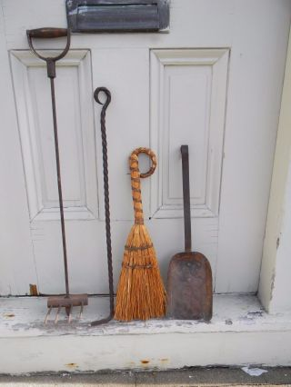 Antique Fireplace Tools - 19th Century photo