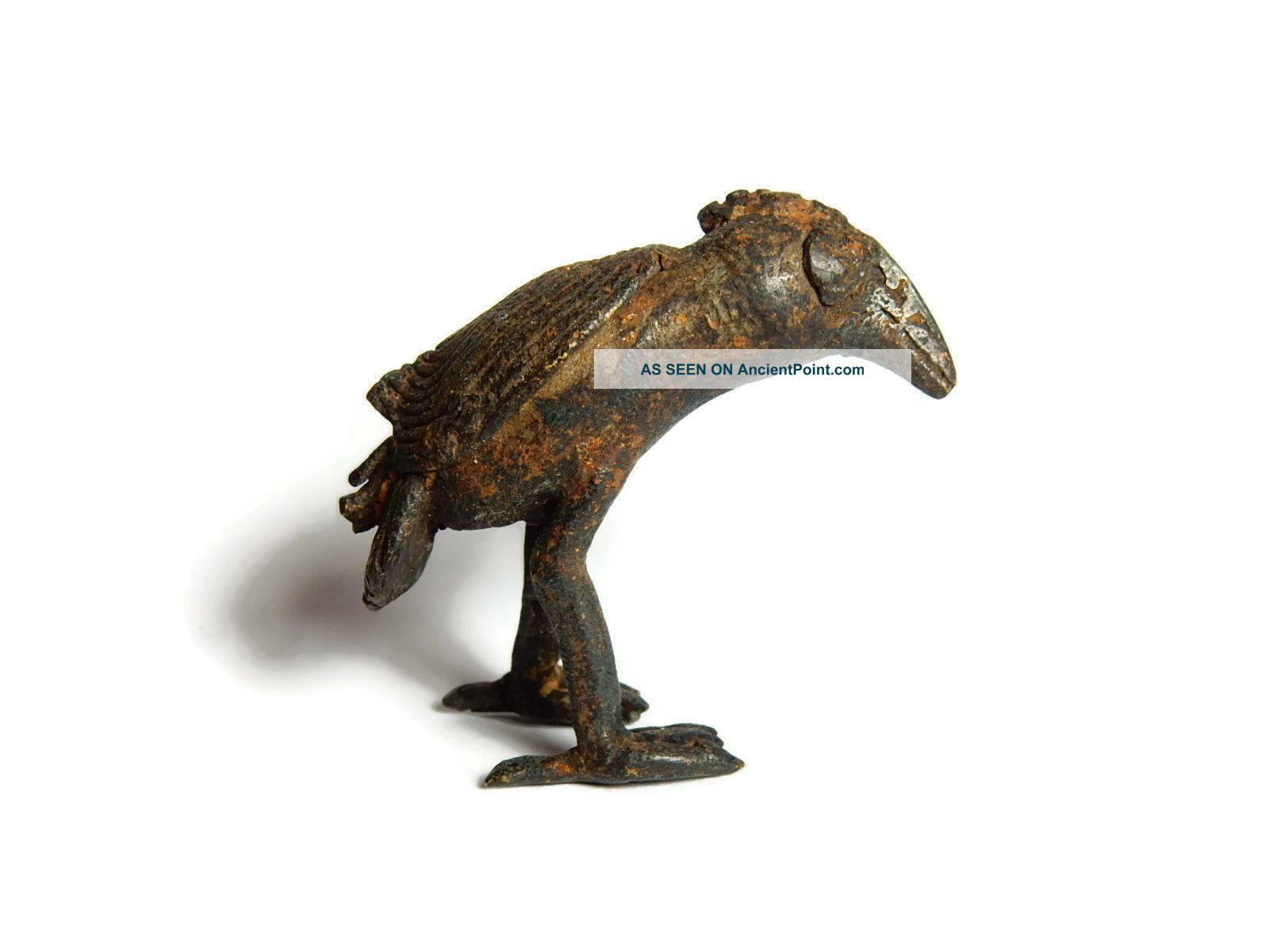 Rare Antique African Bronze Ashanti Gold Weight A Bird Sculptures & Statues photo