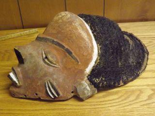 Vintage Antique African Wood Mask - Punu ??? photo