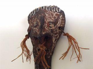 Vintage Papua Guinea Cassowary Bone Dagger Figural Head photo