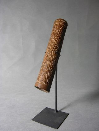 Asmat Png Headhunting Headhunter Trumpet Fu Papua Guinea Sepik Tonga Fiji photo