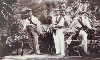 Soldiers & Scouts Pre 2nd Boer War 1898 Swaziland South Africa Rare Photograph photo