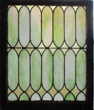 Antique American Stained Glass Window 28 X 33 Architectural Salvage photo