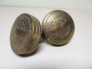 Antique Victorian Eastlake Nashua Doorknob Pair.  1880 ' S photo